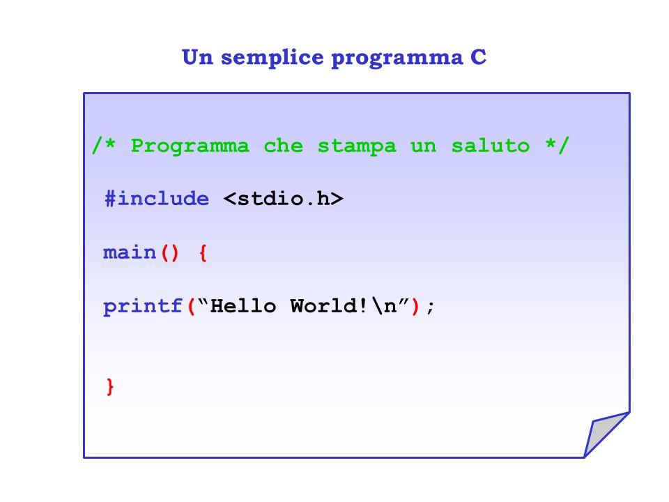 Un semplice programma C