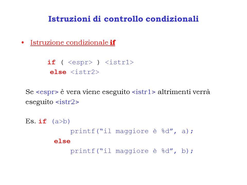 Istruzioni di controllo condizionali