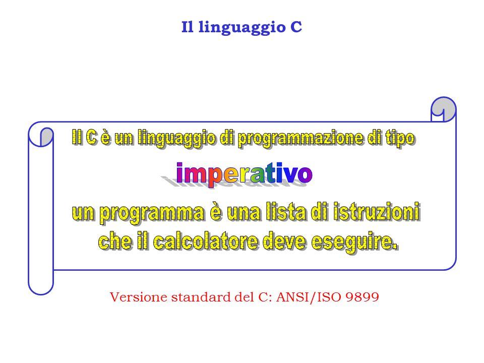 imperativo Il linguaggio C