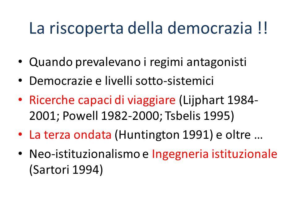 La riscoperta della democrazia !!