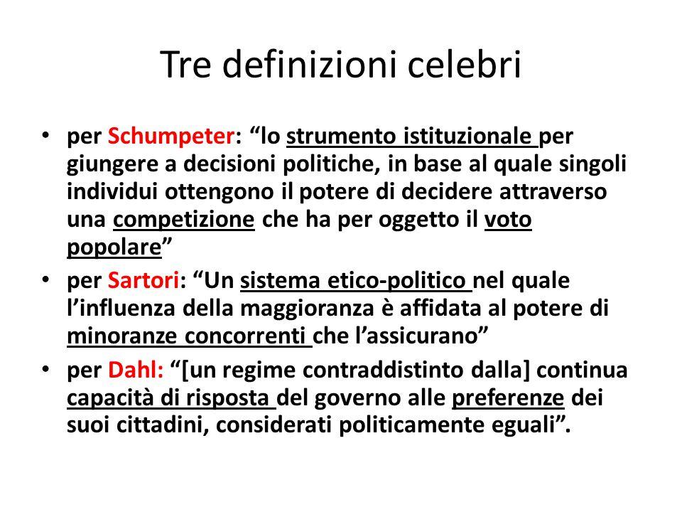 Tre definizioni celebri