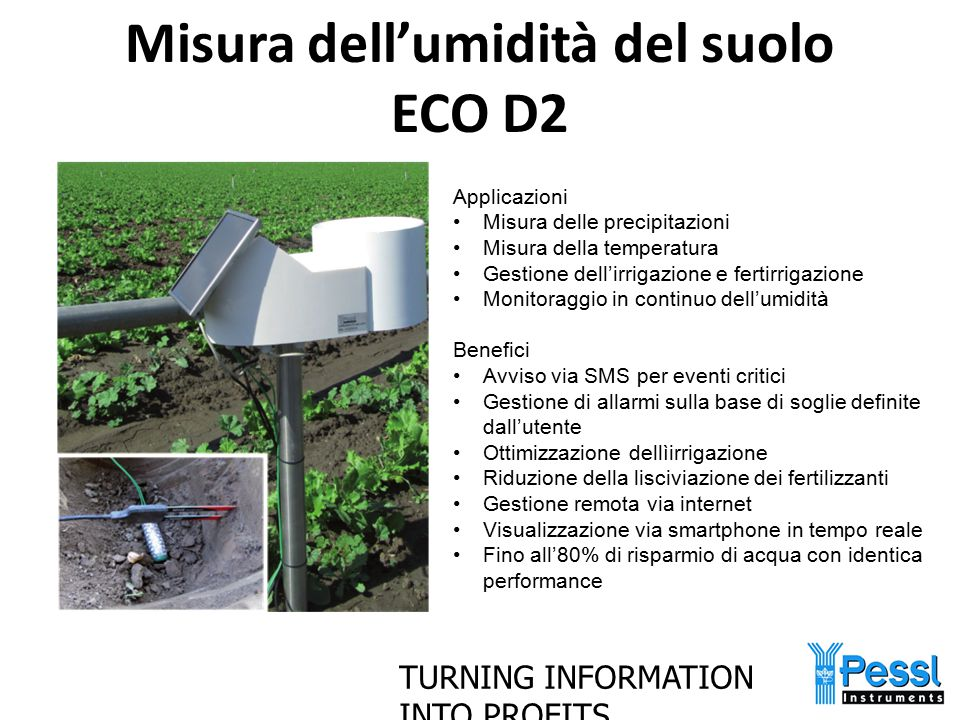 Misura dell'umidità del suolo ECO D2