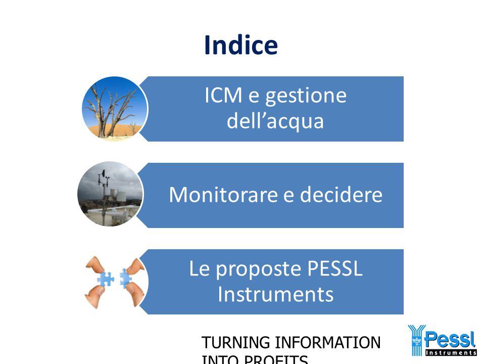 Indice ICM e gestione dell'acqua Monitorare e decidere