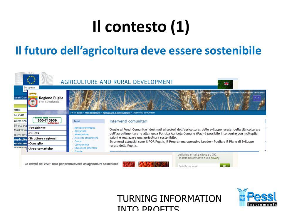 Il contesto (1) Il futuro dell'agricoltura deve essere sostenibile
