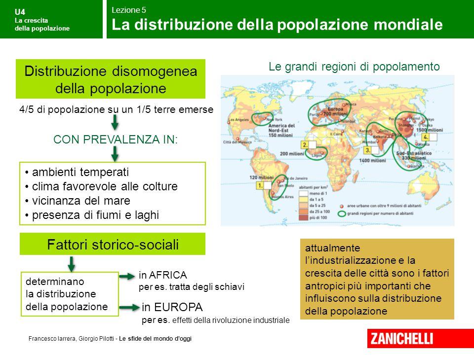 La distribuzione della popolazione mondiale