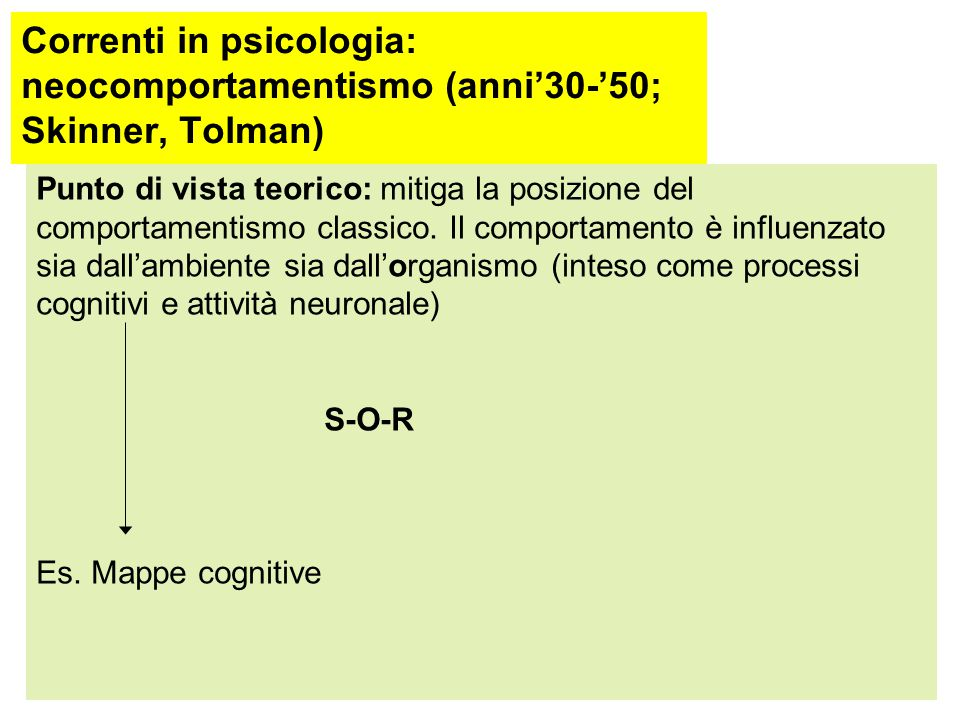 Correnti in psicologia: