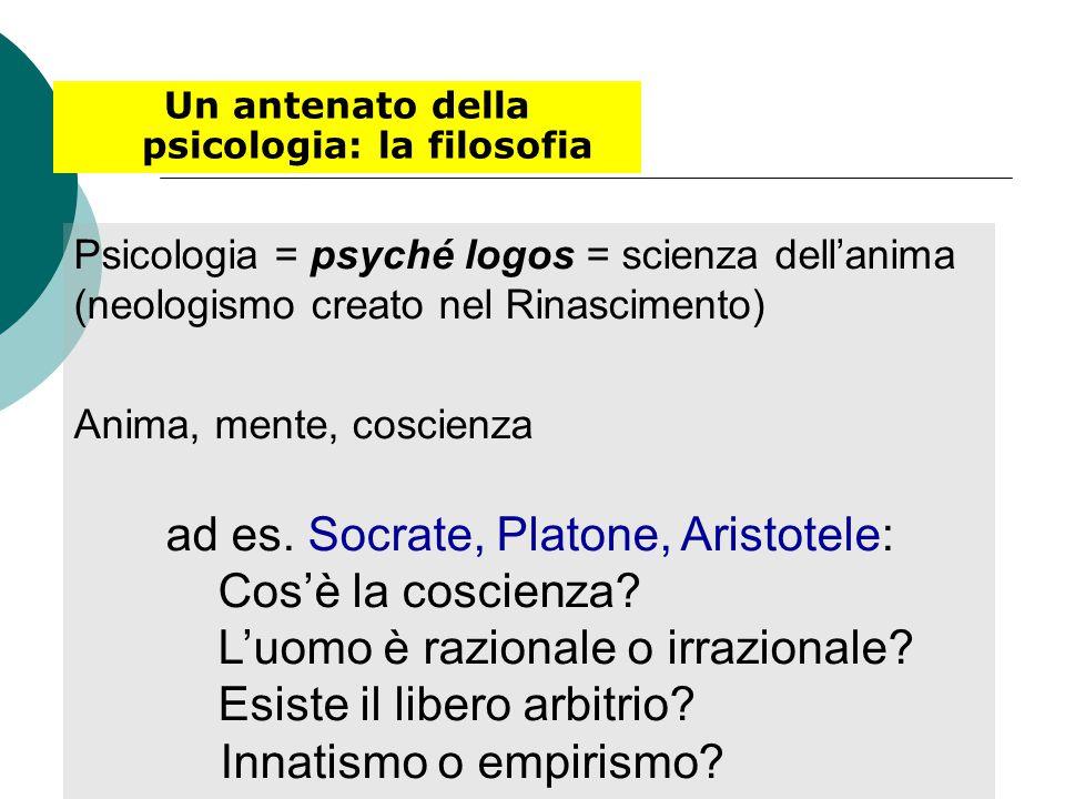 Un antenato della psicologia: la filosofia
