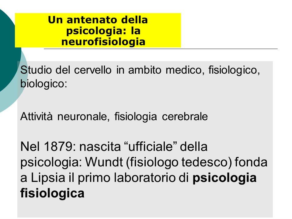 Un antenato della psicologia: la neurofisiologia
