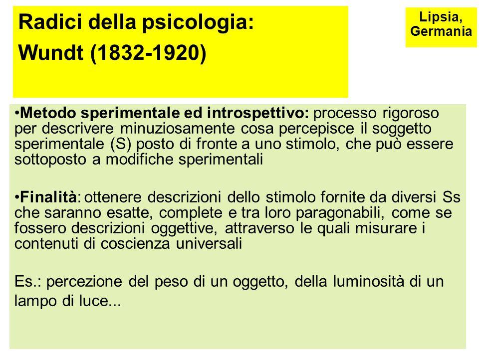 Radici della psicologia: Wundt (1832-1920)