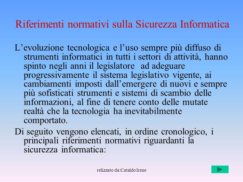 Riferimenti normativi sulla Sicurezza Informatica