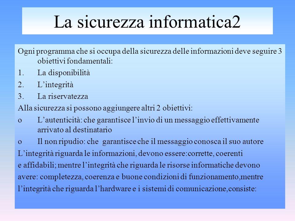 La sicurezza informatica2