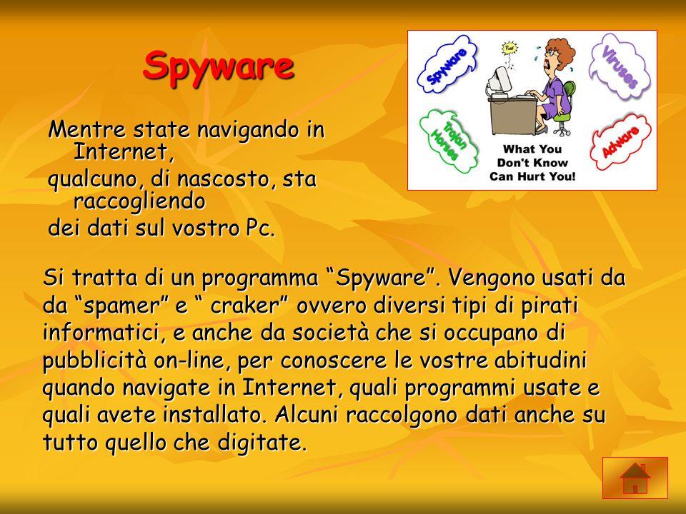 Spyware Mentre state navigando in Internet,