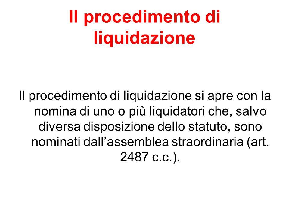 Il procedimento di liquidazione