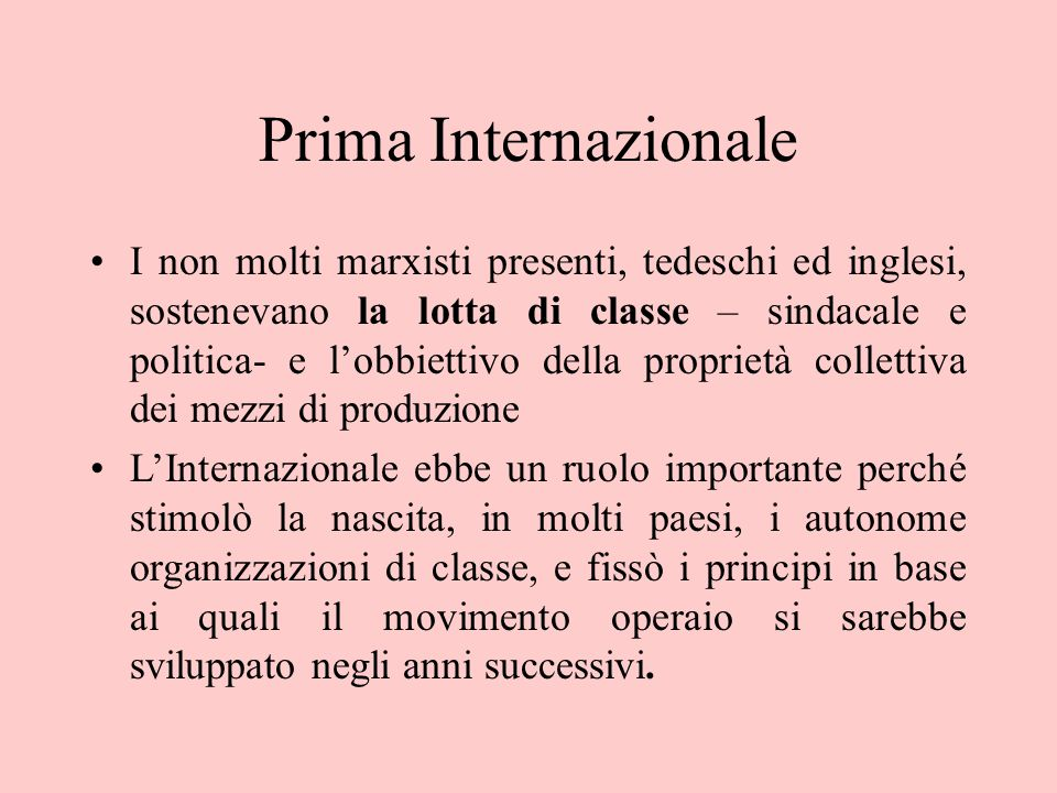 Prima Internazionale