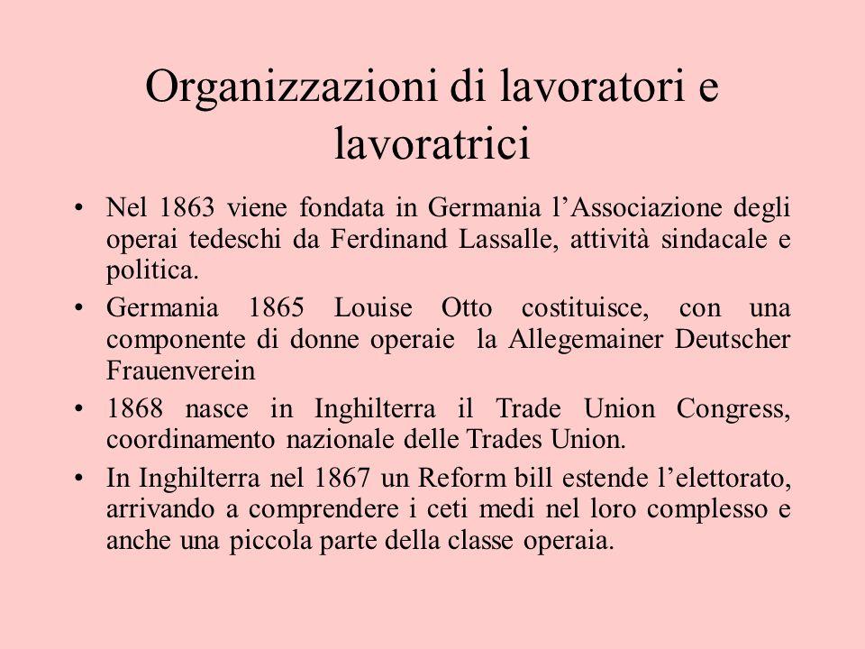 Organizzazioni di lavoratori e lavoratrici