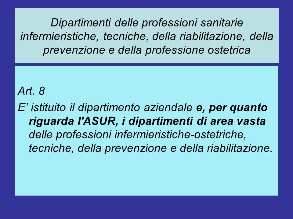Dipartimenti delle professioni sanitarie infermieristiche, tecniche, della riabilitazione, della prevenzione e della professione ostetrica