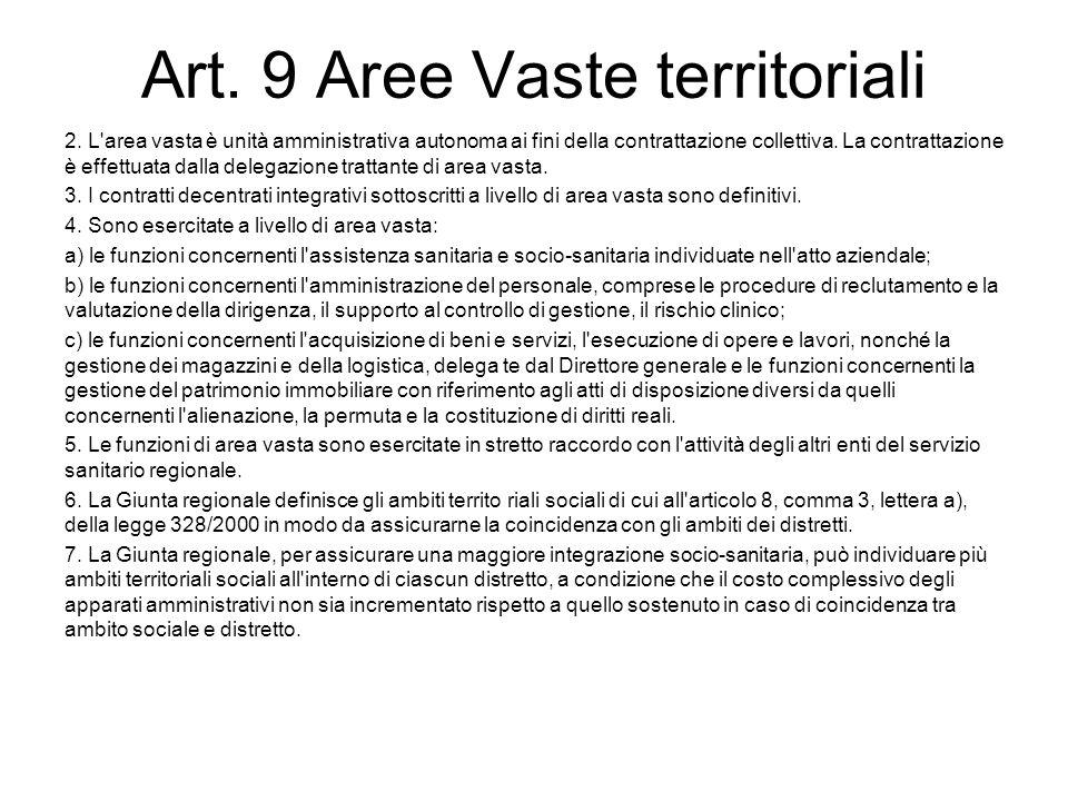 Art. 9 Aree Vaste territoriali