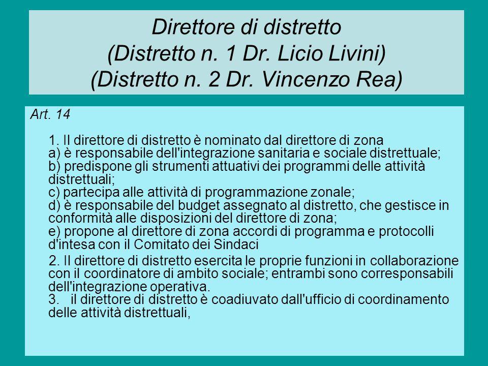 Direttore di distretto (Distretto n. 1 Dr. Licio Livini) (Distretto n