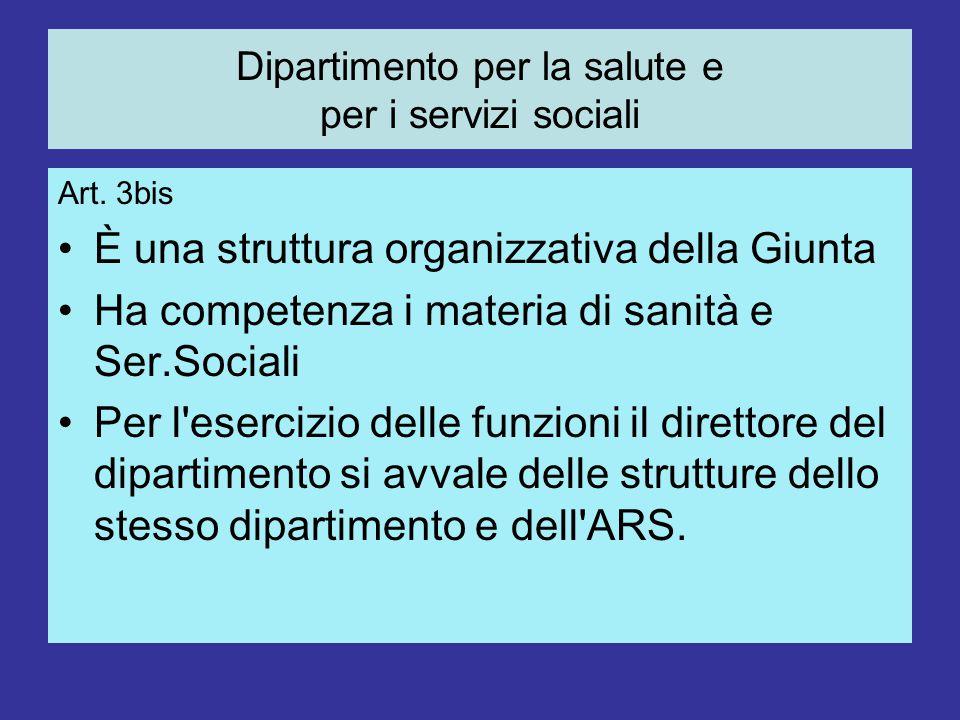 Dipartimento per la salute e per i servizi sociali