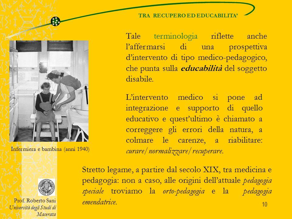 TRA RECUPERO ED EDUCABILITA'
