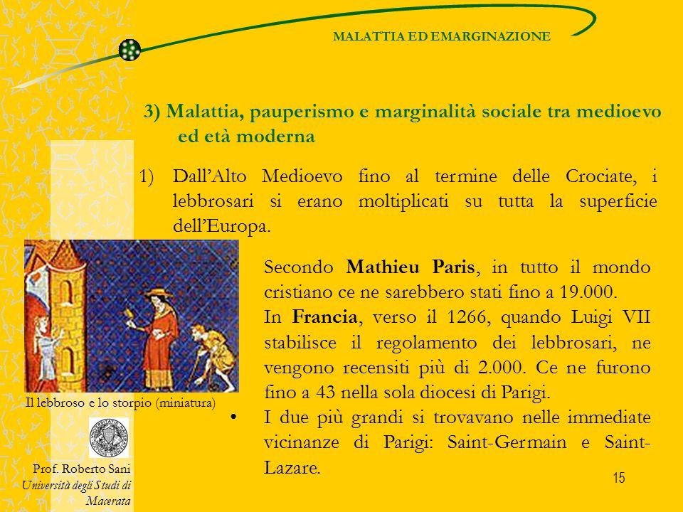 MALATTIA ED EMARGINAZIONE