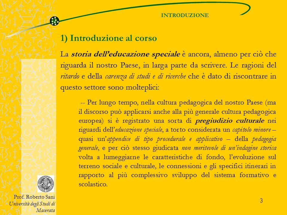 1) Introduzione al corso