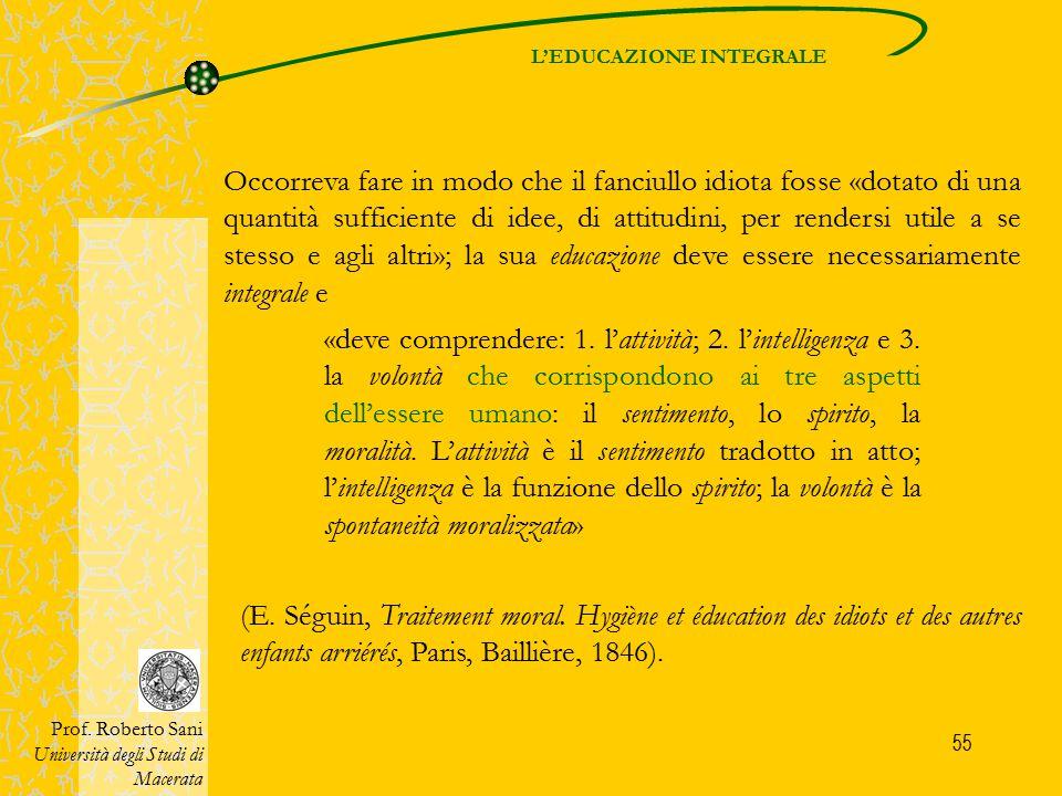 L'EDUCAZIONE INTEGRALE