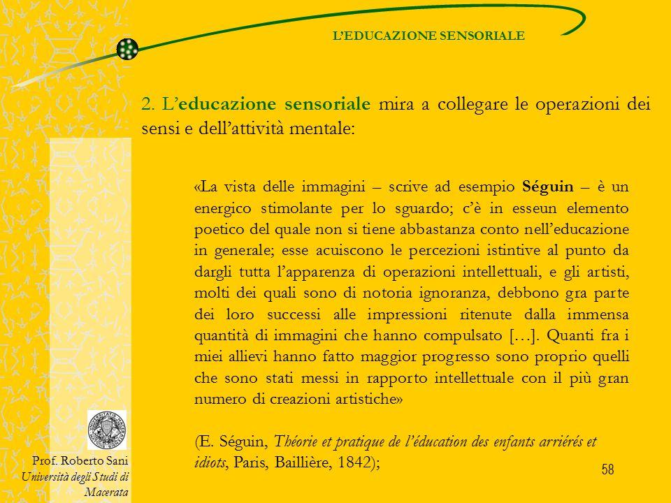L'EDUCAZIONE SENSORIALE