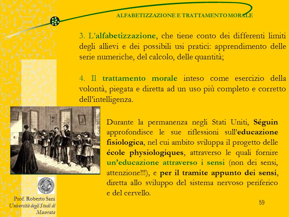 ALFABETIZZAZIONE E TRATTAMENTO MORALE