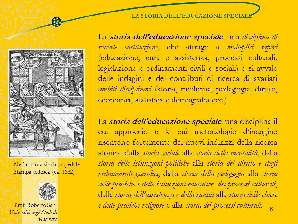 LA STORIA DELL'EDUCAZIONE SPECIALE