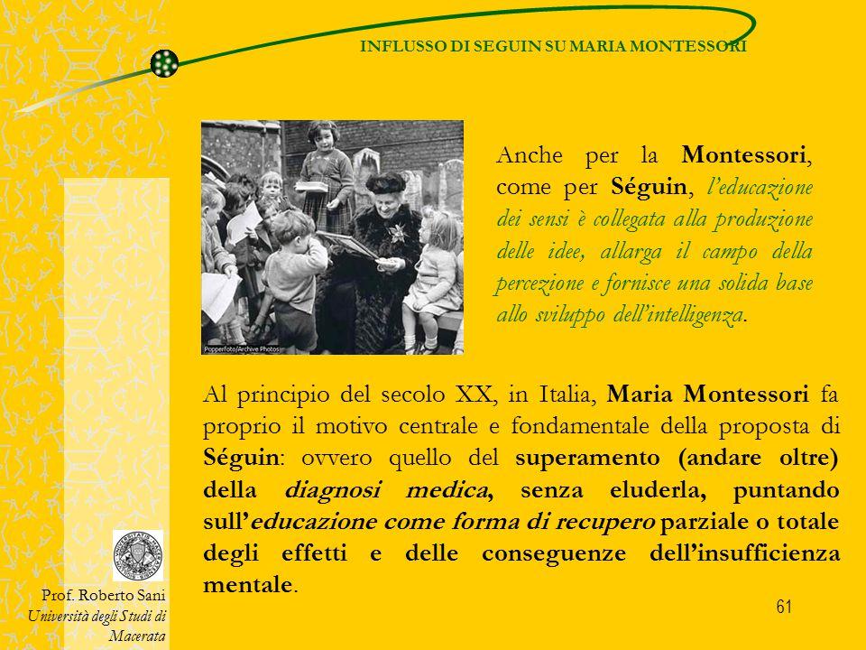 INFLUSSO DI SEGUIN SU MARIA MONTESSORI