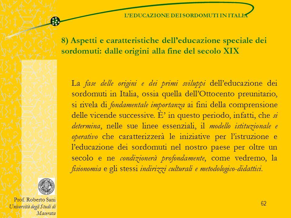 L'EDUCAZIONE DEI SORDOMUTI IN ITALIA
