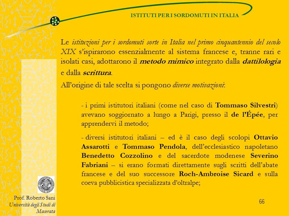 ISTITUTI PER I SORDOMUTI IN ITALIA