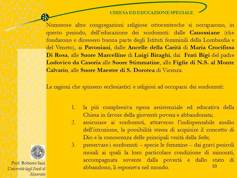 CHIESA ED EDUCAZIONE SPECIALE