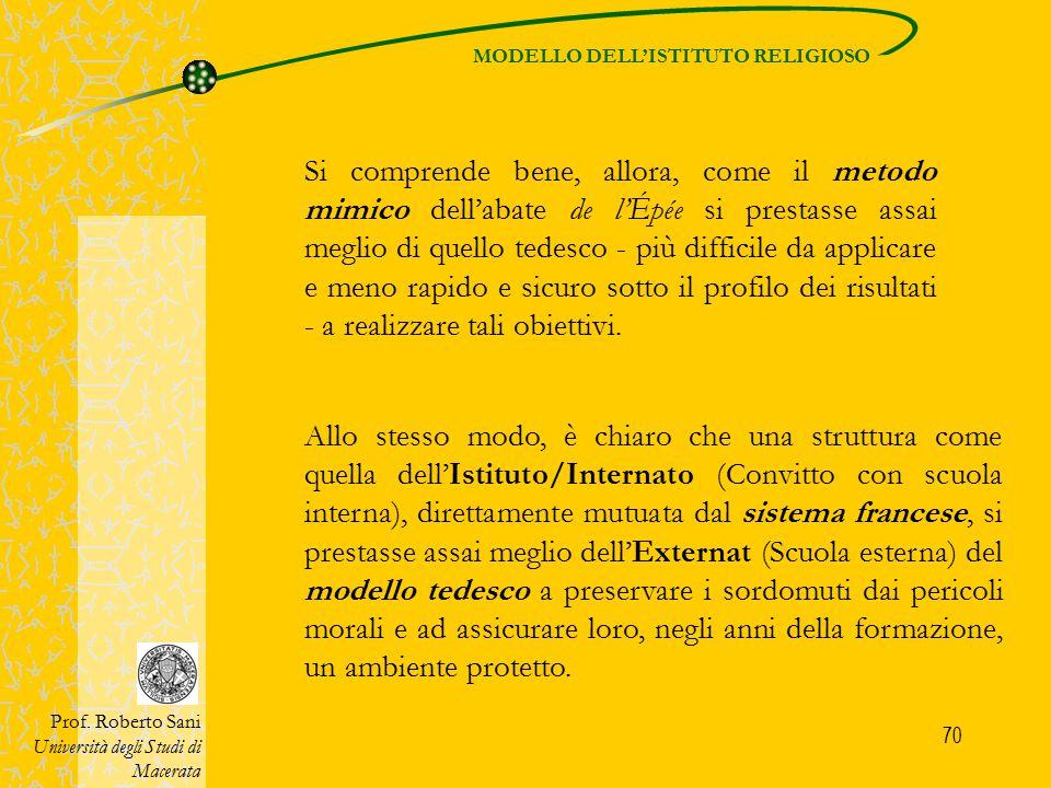 MODELLO DELL'ISTITUTO RELIGIOSO