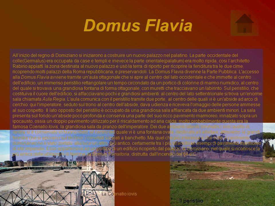 Domus Flavia Il peristilio