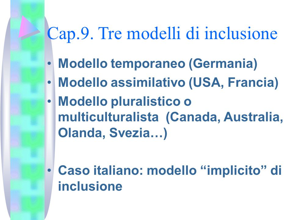 Cap.9. Tre modelli di inclusione
