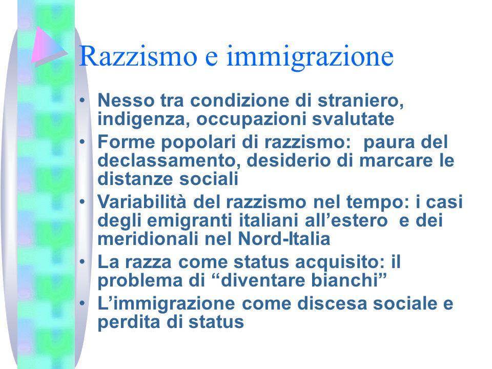Razzismo e immigrazione