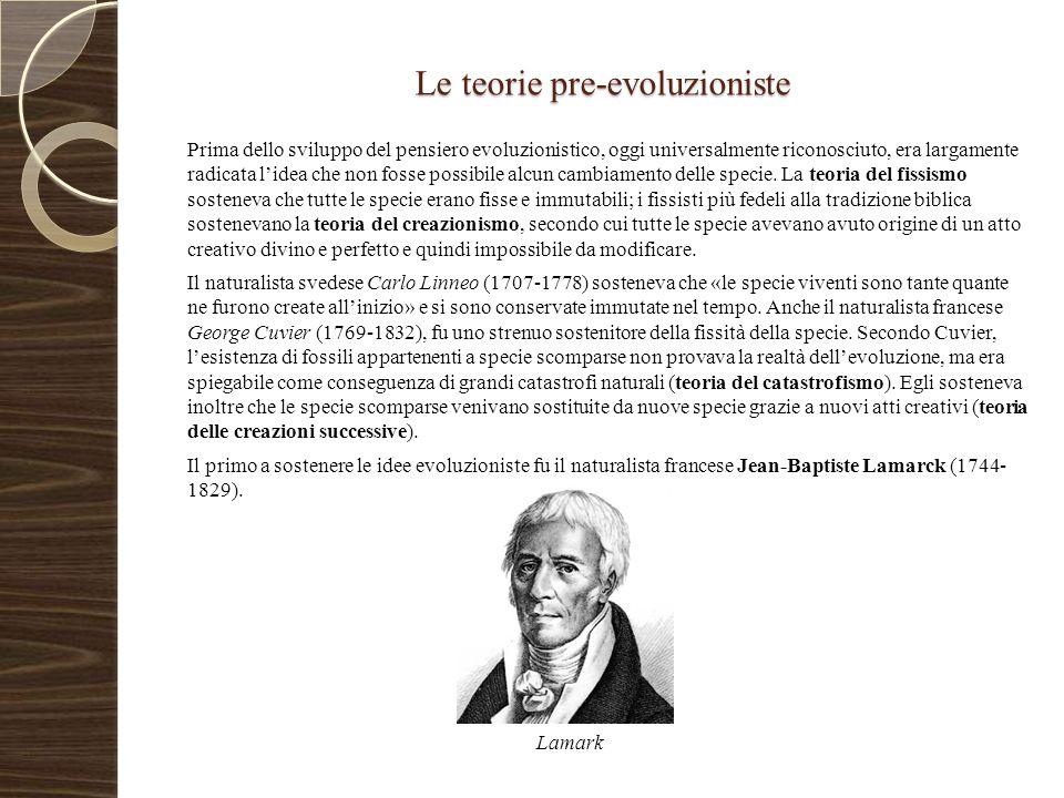 Le teorie pre-evoluzioniste