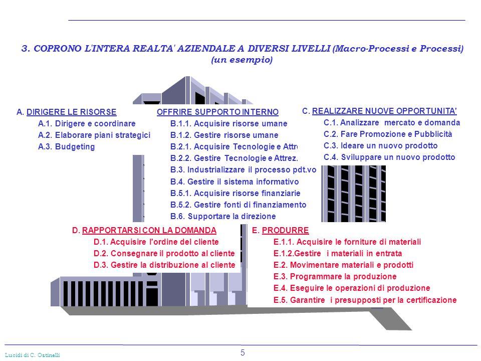 3. COPRONO L INTERA REALTA AZIENDALE A DIVERSI LIVELLI (Macro-Processi e Processi)