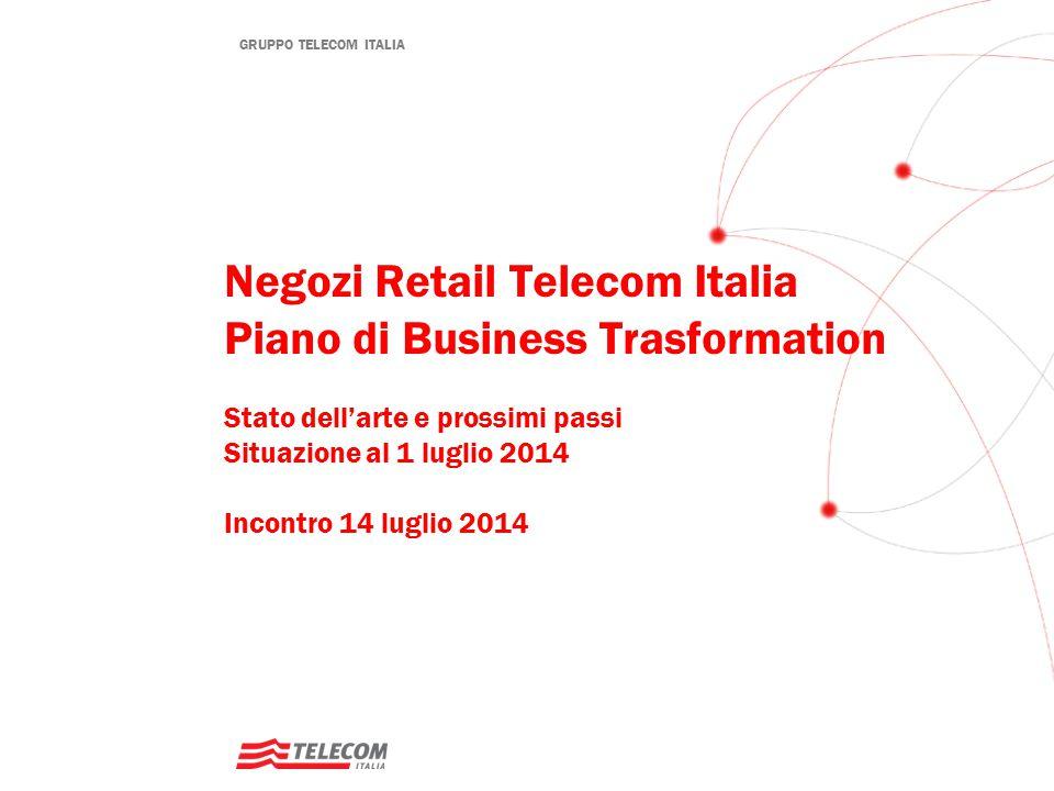 Negozi Retail Telecom Italia Piano di Business Trasformation Stato dell'arte e prossimi passi Situazione al 1 luglio 2014 Incontro 14 luglio 2014
