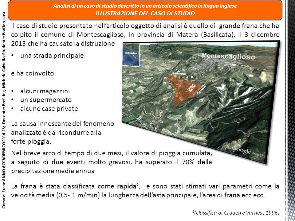 ILLUSTRAZIONE DEL CASO DI STUDIO