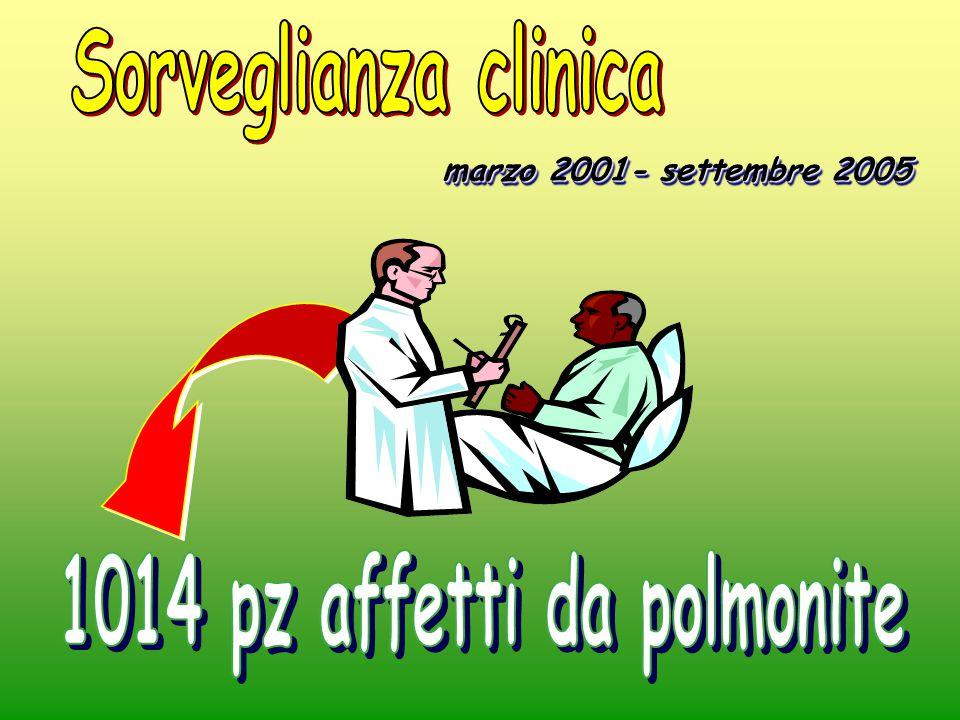 1014 pz affetti da polmonite
