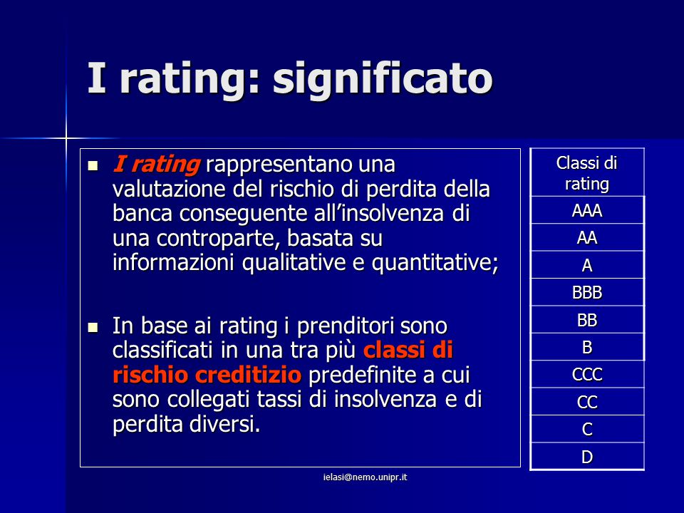 I rating: significato