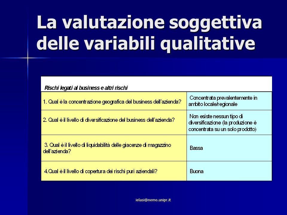 La valutazione soggettiva delle variabili qualitative