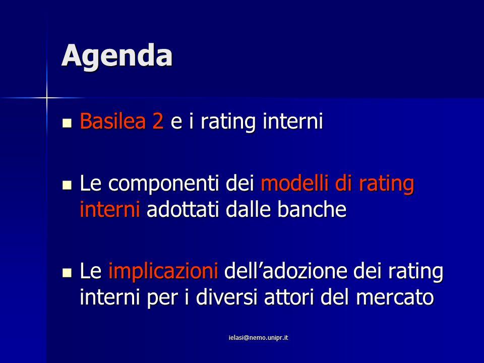 Agenda Basilea 2 e i rating interni