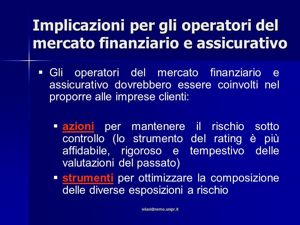 Implicazioni per gli operatori del mercato finanziario e assicurativo