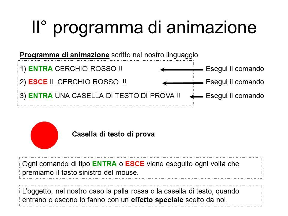 II° programma di animazione