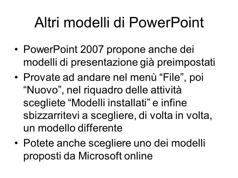 Altri modelli di PowerPoint