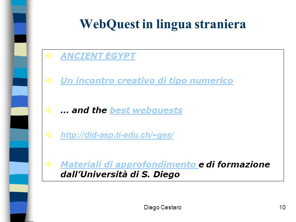 WebQuest in lingua straniera